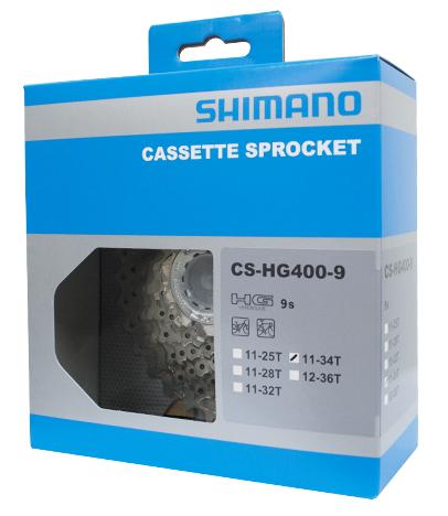 Piñón Shimano Alivio cs-hg400 9v. (11-34)