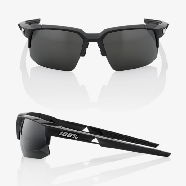 Lentes 100% Speedcoupe polished black