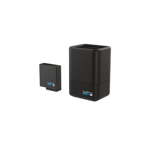Gopro Dual Battery Charger + battery hero 5 6 7 blk