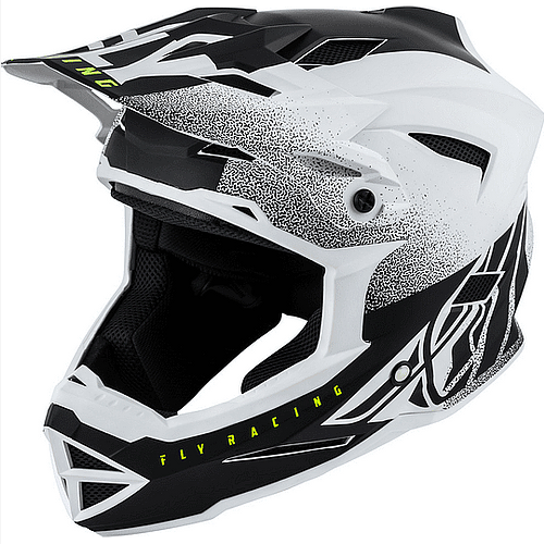 Casco Fly Default Dither Matte Blanco/Negro