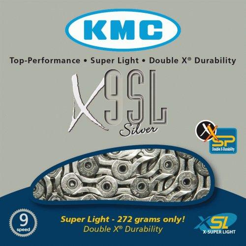 Cadena Kmc Ultralight X9sl 1/2″ X11/128 Plata